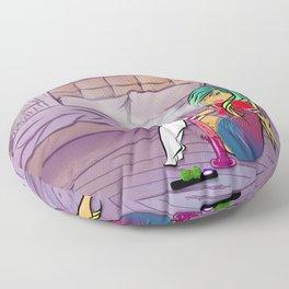 Purple Blazed, Smoking Lady Series Floor Pillow