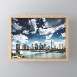 manhattan skyline Framed Mini Art Print