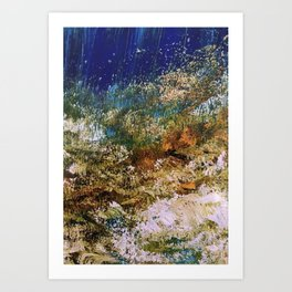 peninsula blue, monterey Art Print