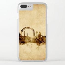 London England Skyline Clear iPhone Case