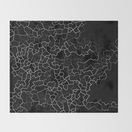 White on Black Crackle Throw Blanket