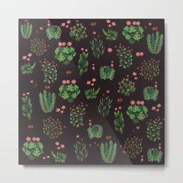 Green Nature in Dark Metal Print