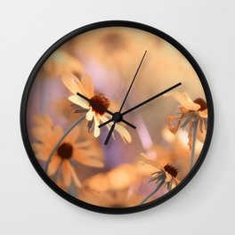Suns star in the autumn garden Wall Clock