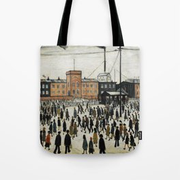 Going To Work L.S Lowry Tote Bag