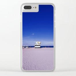 Miami Beach 90' Blue Clear iPhone Case