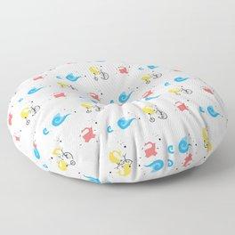 Polar Bear Triathletes Floor Pillow