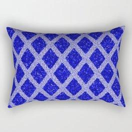 blue rhombus Rectangular Pillow