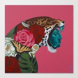 Jaguar Warrior Canvas Print