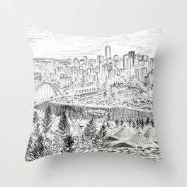 YEG Skyline Throw Pillow