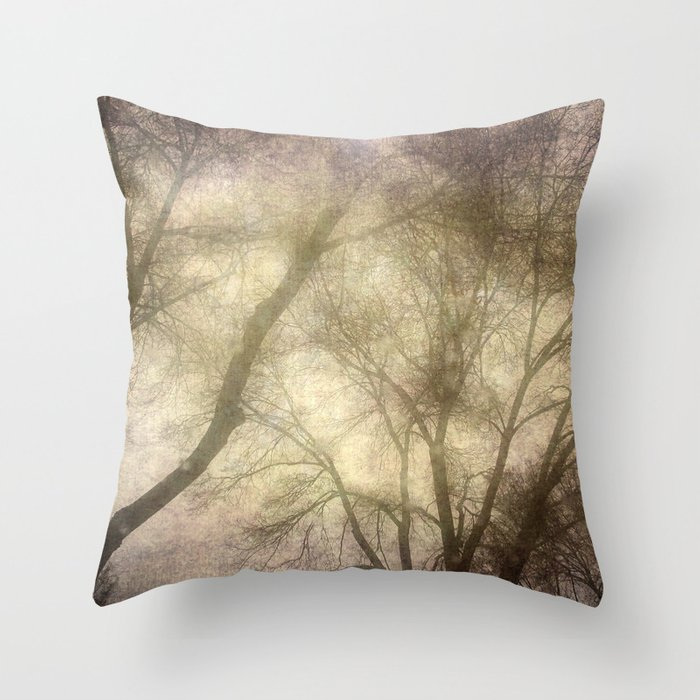 Interlocking trees Throw Pillow