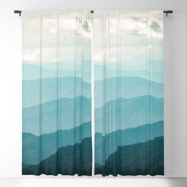 Turquoise Smoky Mountains - Wanderlust Nature Photography Blackout Curtain