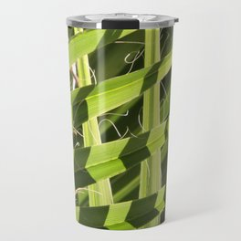 TEXTURES -- Palm Fronds Intersecting Travel Mug