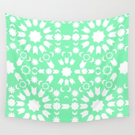 Peppermint Arabesque Wall Tapestry