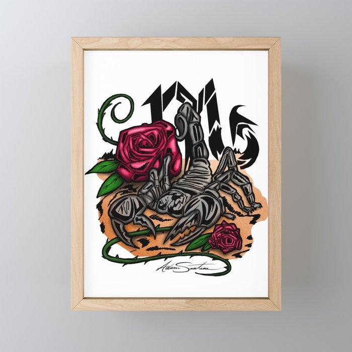 Scorpio - Zodiac Framed Mini Art Print