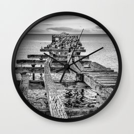 Derelict Pier Wall Clock