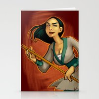 mulan Stationery Cards featuring MULAN by Kaja Reinki