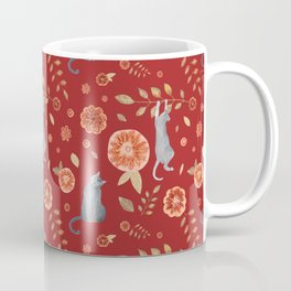 IT'S A CATS' WORLD! Burgundy Red Palette Coffee Mug
