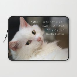 What greater gift than the Love of a Cat Laptop Sleeve