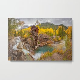 CRYSTAL MILL AUTUMN COLORADO LANDSCAPE PHOTOGRAPHY Metal Print