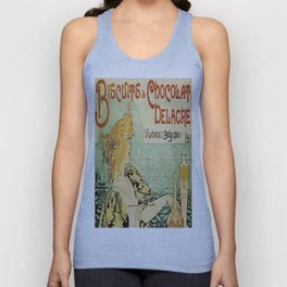 Vintage poster - Biscuits and Chocolat Delacre Unisex Tank Top