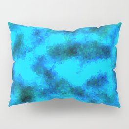 Stained Glass Camo -- Aqua Pillow Sham
