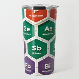 Elements of periodic table Travel Mug