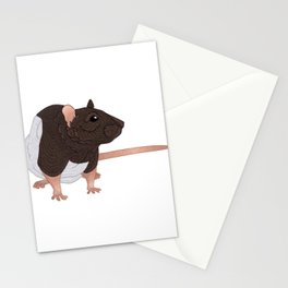 Curious Rat Stationery Cards