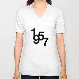 Helvetica Typoster #2 Unisex V-Neck