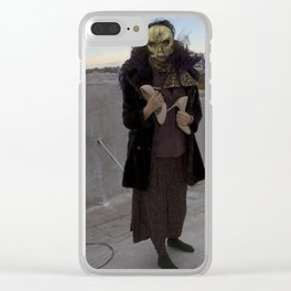 Wearing My Skeleton on My Face, No. 4 Clear iPhone Case