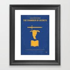 No101-2 My HP - CHAMBER OF SECRETS minimal movie poster Framed Art Print