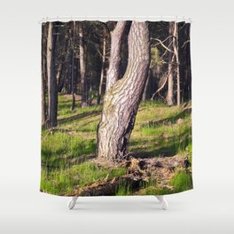 GREEN FOREST Shower Curtain