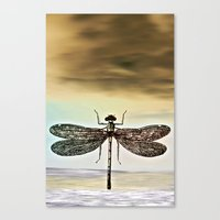 dragonfly Canvas Prints featuring DRAGONFLY  by Pia Schneider