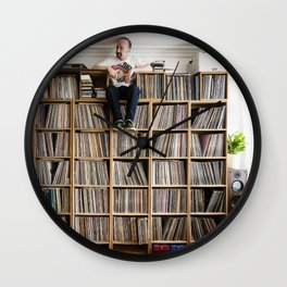 Mr. Scruff's vinyl wall Wall Clock