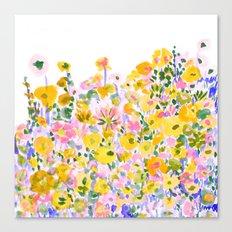 Flower Fields Sunshine Canvas Print
