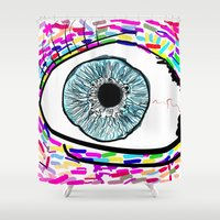 iris Shower Curtains featuring Iris by Beyond Infinite