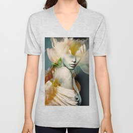 blooming 2a Unisex V-Neck