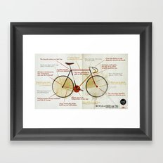 Bike benefit (eng) Framed Art Print