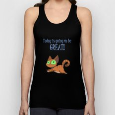 Optimistic Cat Unisex Tank Top