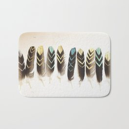 Found Feathers Bath Mat