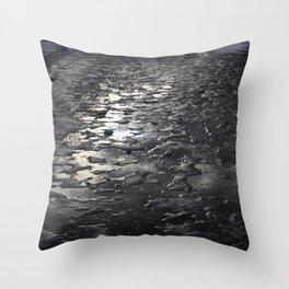 Smooth Ice Throw Pillow