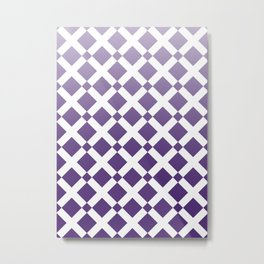 Purple Cross Metal Print