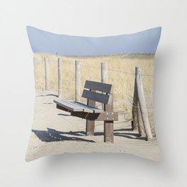 Beach Trail Throw Pillow