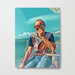 Pop  Auto Portrait of The Artist Metal Print