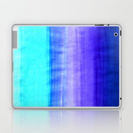 Ocean Horizon - cobalt blue, purple & mint watercolor abstract Laptop & iPad Skin