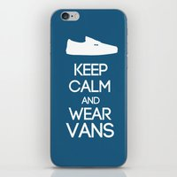 vans iPhone & iPod Skins featuring Keep calm and wear Vans by Yellow Dust