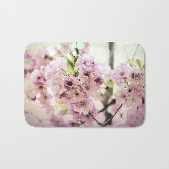 vintage cherry blossom Bath Mat