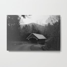 New England Classic Covered Bridge Metal Print