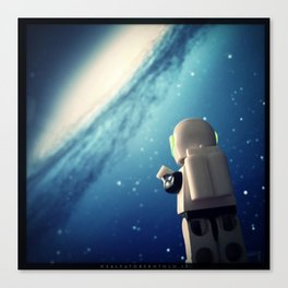Neil in the galaxy Canvas Print
