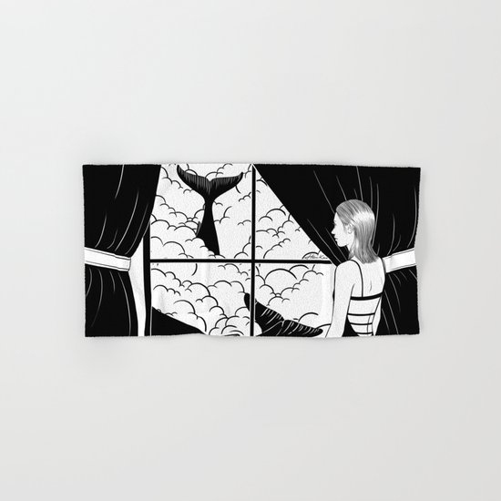 Flying in the ocean, Swimming in the sky Hand & Bath Towel