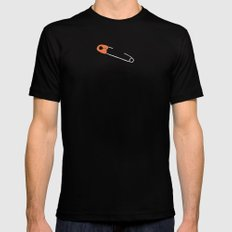 safetypin Mens Fitted Tee Black MEDIUM